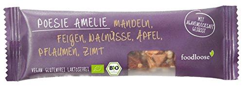 foodloose Poesie Amelie Bio-Nussriegel, 6er Pack (6 x 35 g)