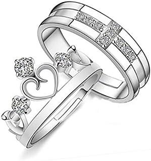 تاج الرجال والنساء مجوهرات النسخة الكورية من خاتم تقليدي افتتاح زوجين خاتم بسيط