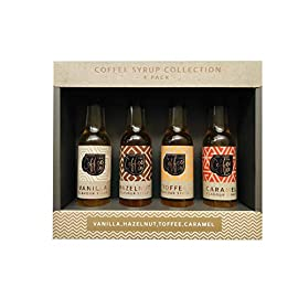 Coffee Co. Coffee Syrup Collection Set of 4 85ml Flavoured Bottles Syrups Topper
