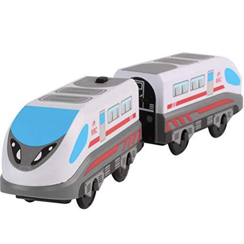 Uyuke Tren eléctrico Juguete de Alta Velocidad Locomotora Tren de Madera Juguete para niños Niño Niña Juguete para niños pequeños