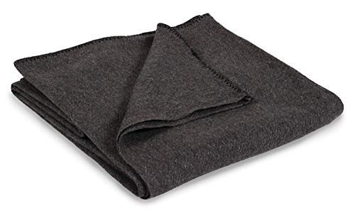 Stansport 1243 Wool Blanket, Gray, 60 x 80-Inch
