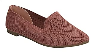 Dejavu Perforated Textile Slip-On Loafers for Women