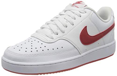 Nike Herren Vision Low Sneaker, White/University Red, 40 EU