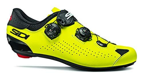 SIDI Shoes Genius 10, Mens, Nero Giallo Fluo, 46