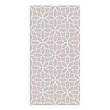 Alfombra Vinílica Flores Geométricas, 80 x 40 cm, Color Rosa, ALV-100-RS