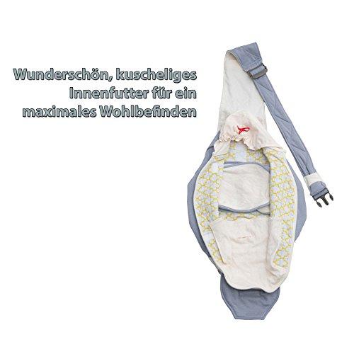 Lodger Shelter 2.0 – 3in1 Babytrage, Babytragetuch, Babysling sowie Transportdecke für Babys und Eltern, ab Geburt bis 18 Monate (max. 12kg), Sicheres Verschlusssystem, Trage-Tuch für Babys und Kinder, Schönes Design, Neu und OVP - 6