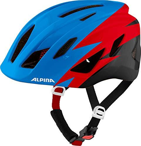Alpina Unisex Jugend PICO Fahrradhelm, Blue-red-Black Gloss, 50-55 cm