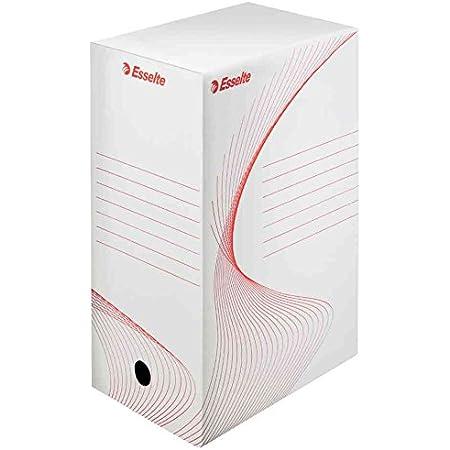 ESSELTE Lot de 50 Boîtes d'archivage carton 25 x 35 cm Dos de 150 mm Blanc