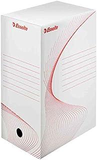 ESSELTE Lot de 20 Boîtes archive Boxy 25 x 35 cm Dos de 100 mm Blanc
