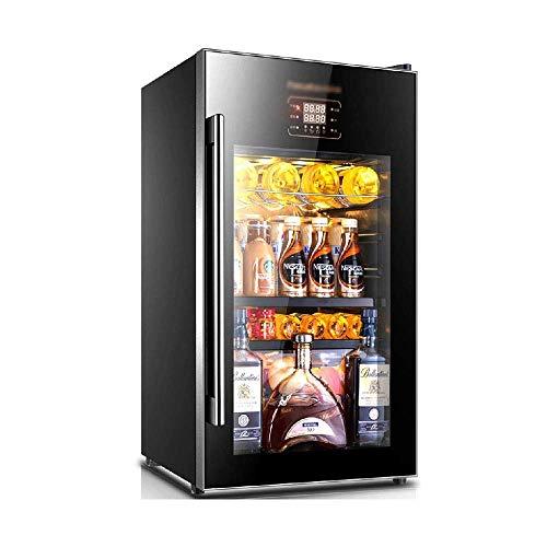Refrigerador pequeño para Bodega, Enfriador de Bebidas, Zona de Doble Temperatura, Barra de Hielo con 10 Salas de microcongelación, refrigerador de Funcionamiento silencioso