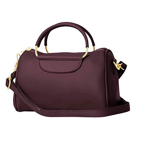 TAP FASHION Women's Sling Bag (WSBNO5542BTS_Dark Wine)