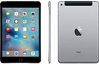 Apple iPad Mini 4 (128GB, Wi-Fi + Cellular, Space Gray) (Renewed)