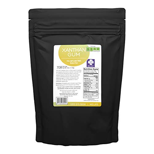 MD. Life Xanthan Gum Powder 2.5 LB – 100% Natural – Xanthan Gum Keto Friendly – Low Carb Gluten Free Xanthan Gum for Baking, Cooking & Thickening Agent Jelly, Ice Cream, Sauce & Gravy