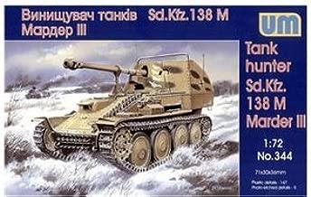 Plastic model Marder III Sd.Kfz.138 M WWII German tank hunter WWII 1/72 UM 344