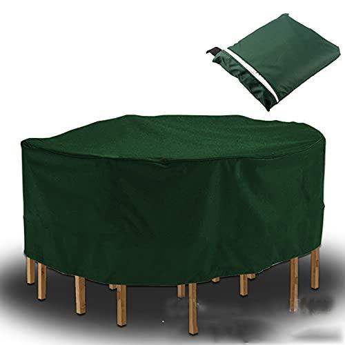 Fundas para muebles de jardín Fundas para muebles de patio resistentes al aire libre, impermeable a prueba de rasgaduras Cubierta de mesa de jardín Anti-UV Patio Cubierta redonda para patio de invie