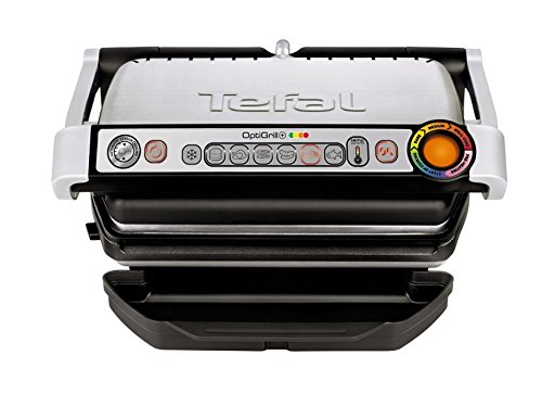 Tefal OptiGrill+ GC713D40 Intelligent Health Grill, 6 Automatic Settings, Stainless Steel, 2000W, 4-6 Portions