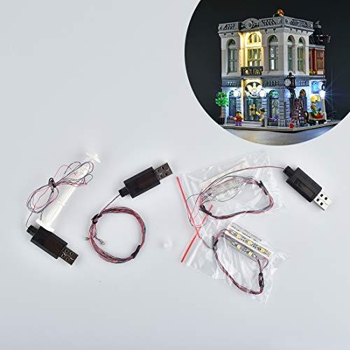 DOSGO Licht-Set Für Brick Bank Modell - LED Beleuchtung Light Kit Kompatibel Mit Lego 10251 (Modell Nicht Enthalten)