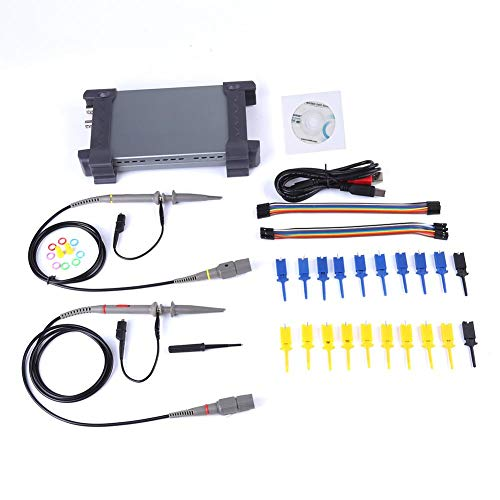 Naroote PC USB Oszilloskop 20MHz Bandbreite 16 Kan?le Logic Analyzer 6022BL