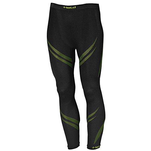 Held 3D-Skin Pantalon Fonctionnel pour l'hiver, Schwarz-grün, m