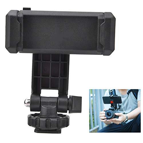 AYNEFY Soporte de teléfono para cámara, ST-06 soporte de teléfono trípode de montaje de cámara caliente zapata Smartphone Clip universal para cámara DSLR Accesorios