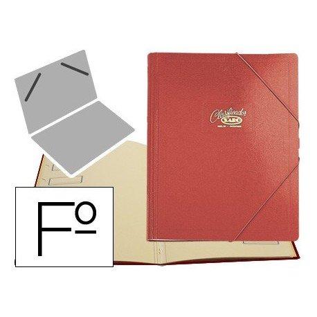 Saro 30-R - Carpeta clasificador, color rojo