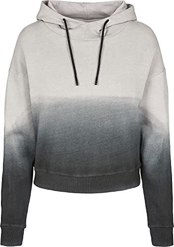 Urban Classics Ladies Dip Dye Hoody Capucha, Multicolor (Black/Grey 01198), Medium para Mujer