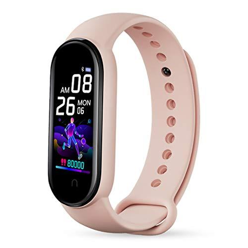 N/A/ Reloj inteligente M5 para hombre y mujer, monitor de ritmo cardíaco, presión arterial