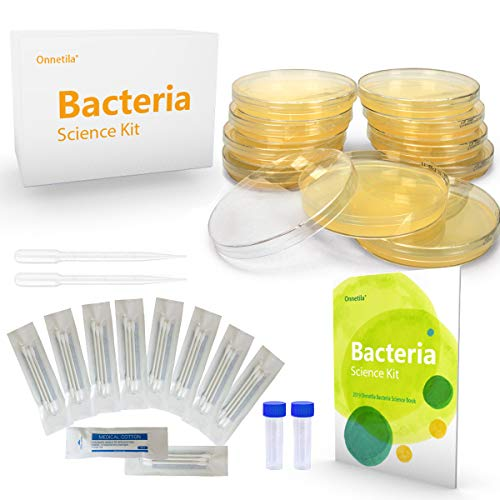 Onnetila Bacteria Science Kit Petri Dishes with Agar Educational STEM Science Fair Project Kit for Kids Age 9 and Above