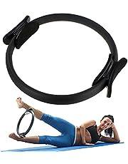 ALLOMN Pilatesring, trainingsapparaat voor binnen, dijen met halve maanvormige greep, antislip voor yoga, fitnesstraining, mannen, vrouwen, thuis, fitnessapparaten