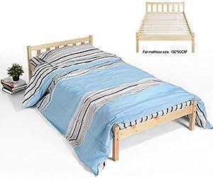 Innovareds Couleur Originale Solide de Cadre de lit Simple en Bois Solide de pin Normal