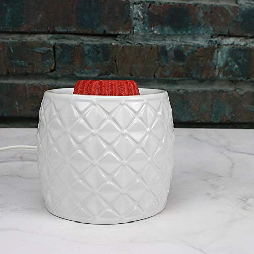 STAR MOON Pluggable Ceramic Fragance Candle Warmer for Home/Dorm/Office No Flame No Smoke No Soot - Snowy Four Leaf Clover