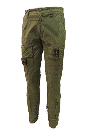 Aeronautica Militare Pantalón Anti-G PA1284CT 07214 Verde Militar, Hombre Trousers, Pants, Hosen 07214 Verde Militare Large