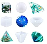 4 Set Silicone Casting Molds, DIY Large Clear Resin Mold Craft Making Tools Set for DIY Home Decoration,Making Cabochons, Orgone, Hanging Ornaments