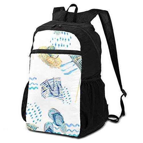 JOCHUAN Travel Daypack Men Colorful Cartoon Cute Beach Chair Ultralight Foldable Backpack Backpack Travel Daypack Lightweight Waterproof for Men & Womentravel Camping Outdoor