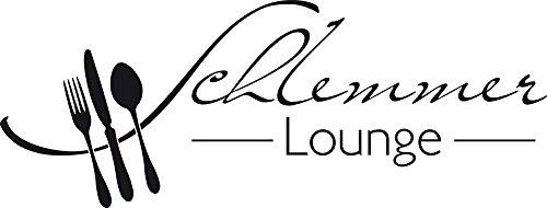 GRAZDesign Wandtattoo Küche Schlemmer-Lounge Küchen-Aufkleber für Wände, Schränke, Fliesen, Möbel für Restaurant und Bars (79x30cm//070 schwarz)