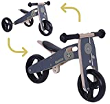 BIKESTAR Bicicletta Senza Pedali e Triciclo (2 in 1) in Legno per Bambino et Bambina...