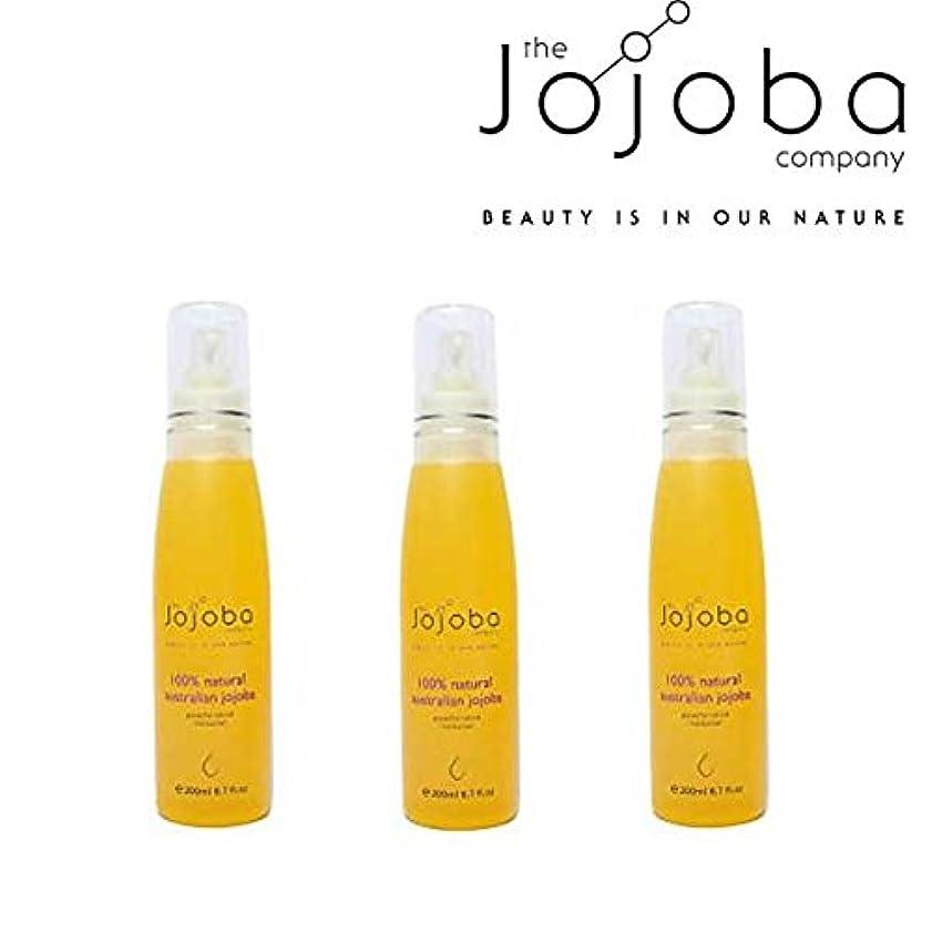 厄介な電気ホット[The jojoba Company]天然100% オーストラリア産ゴールデンホホバオイル200ml(3本セット)[海外直送品]