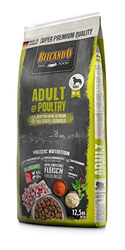 Belcando Adult GF Poultry [12,5 kg] getreidefreies Hundefutter | Trockenfutter ohne Getreide mit Geflügel | Alleinfuttermittel für ausgewachsene Hunde ab 1 Jahr