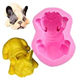 Fewo 3D French Bulldog Silicone Mold for Fondant Chocolate Candy Cake Decorating Candle Soap Lotion Bar Wax Crayon Melt Plaster Polymer Clay