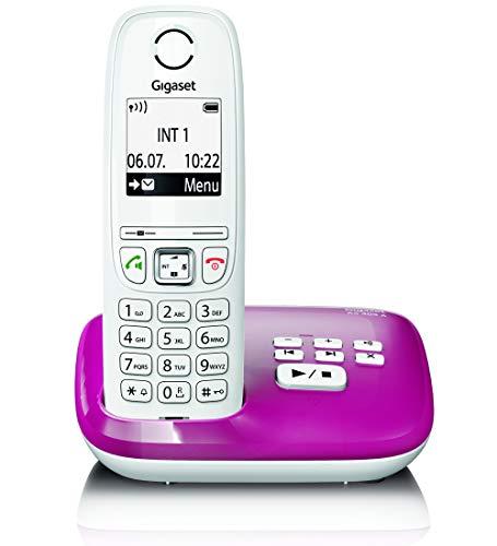AS405AFestnetz-/Schnurlostelefon Anrufbeantworter (DECT-Telefon, Freisprechfunktion, großes Display, große Tasten)Bordeaux