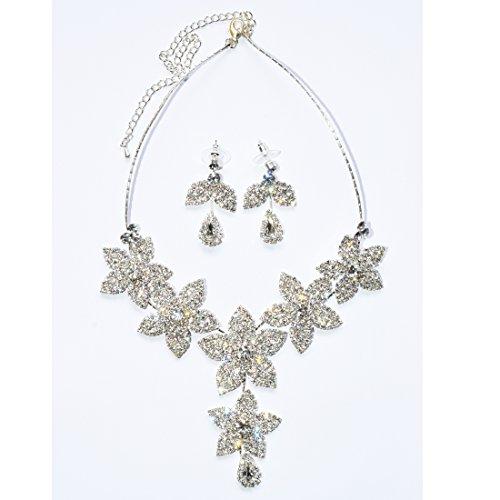 Klaritta Bijoux en Argent sertis de Cristaux Bleu Roi Boucles doreilles Pendantes pour Femme Bracelet et Collier S671