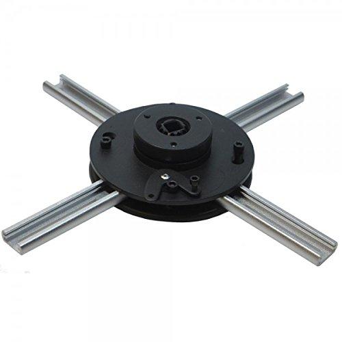 ivolum Beamer-Halterung BeamFix Flat Small | Farbe: schwarz | Beamer-Deckenhalterung mit geringem Deckenabstand | Ideal für kleine Beamer | Max. Tragkraft: 20 kg
