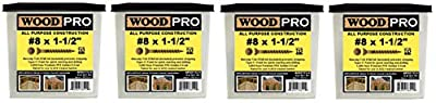 WoodPro Fasteners AP8X112-5 T20 5-Pound Net Weight 8 by 1-1/2-Inch All Purpose Wood Construction Screws, 1050-Piece