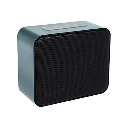 MARIJEE Mini-Lautsprecher Bluetooth Audiokarte Handy Computer Mini Subwoofer Drahtloser Lautsprecher Tragbarer kabelloser Outdoor Lautsprecher, tragbar Speaker, Starkem Bass mit Radiatoren, (Blau)