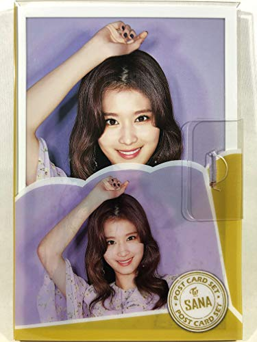 SANA サナ - TWICE トゥワイス グッズ / プラケース入り ポストカード 16枚セット - Post Card 16sheets (is included in a Plastic Case) [TradePlace K-POP 韓国製]