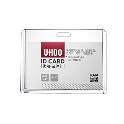 【AedoE】カード ホルダー ネックストラップ 名札 吊り下げ イベント スタッフ パス 名刺 社員証 ケース 入れ 首かけ ネームホルダー カードホルダー 10セット 首掛けイベント用横型 (A:イエロー)