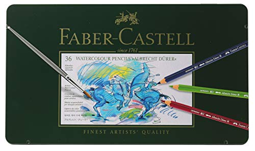 Faber-Castel FC117536 Albrecht Durer Artist Watercolor Pencils in A Metal Tin (36 Pack), Assorted