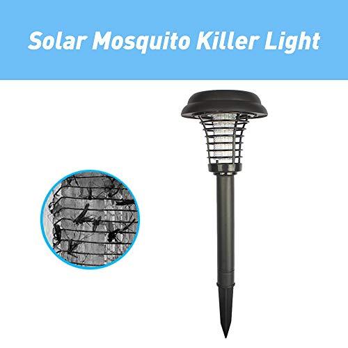 Verilux® LED Solar Mosquito Killer Outdoor Garden Lawn Lamp Bug Zapper Killer (Black)