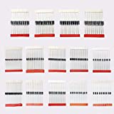 Ballylelly Kit Surtido de diodos Schottky de Cambio rápido de 200 Piezas 1N4001 1N4004 1N4007 1N5408 UF4007 FR207 1N5817 1N5819 1N5822 1N4148 RL207