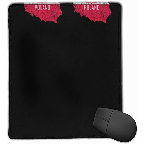 Muiskussentjes Polen Map Vlag muismat met antislip rubberen voet